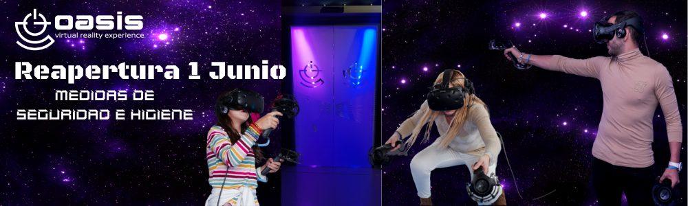 Imagen que muestra la noticia de la reapertura de oasis vr experience el centro de realidad virtual en madrid